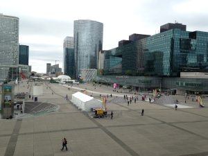 The huge mall in La Defense, taken from the steps of the Grande Arche