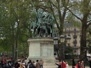 Charlemagne, outside Notre Dame