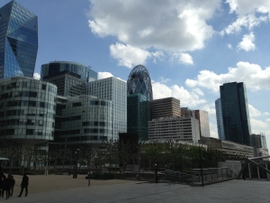 Part of the La Defense skyline (from the esplanade outside the mall)