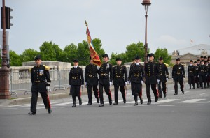 A closer view of the cadets.