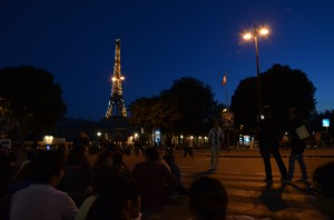 A decent picture of the Tour Eiffel prior to the fireworks.