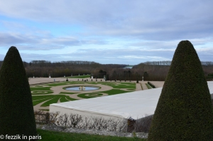 The gardens, as seen from the rear of the chateau.