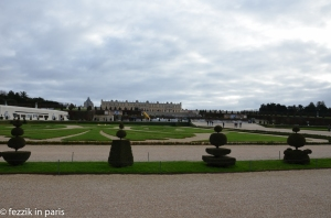 The rear of the chateau, as seen from the garden adjacent to the Grand Canal.