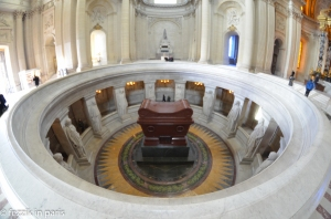 The tomb of Napoleon  as seen from above. The framing is slightly off, but I like this picture. A lot.