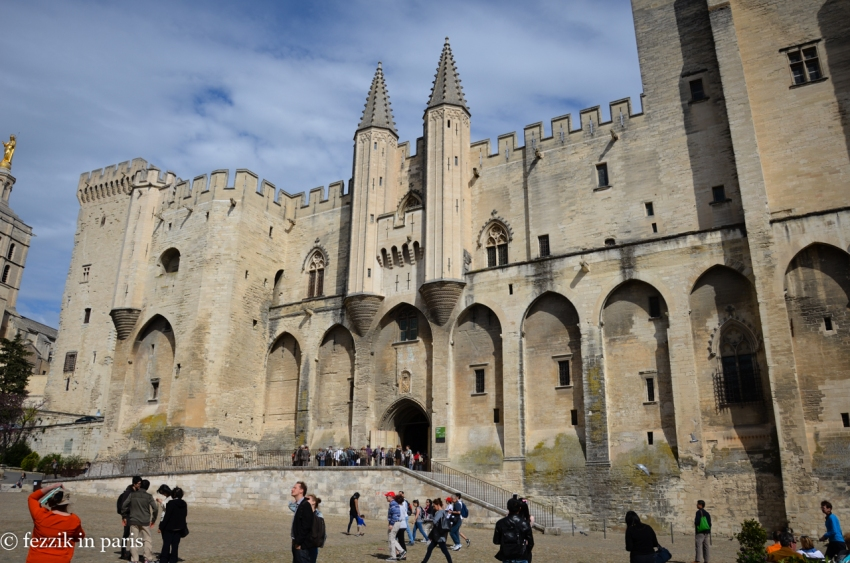 The Palais des Papes, home to seven popes (and two antipopes) until the papacy was returned to Rome at the resolution of the Great Schism.