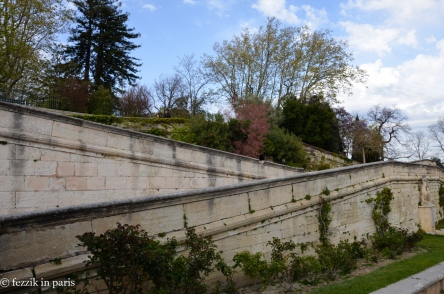 The path leading up to the gardens on the north side of the papal palace.