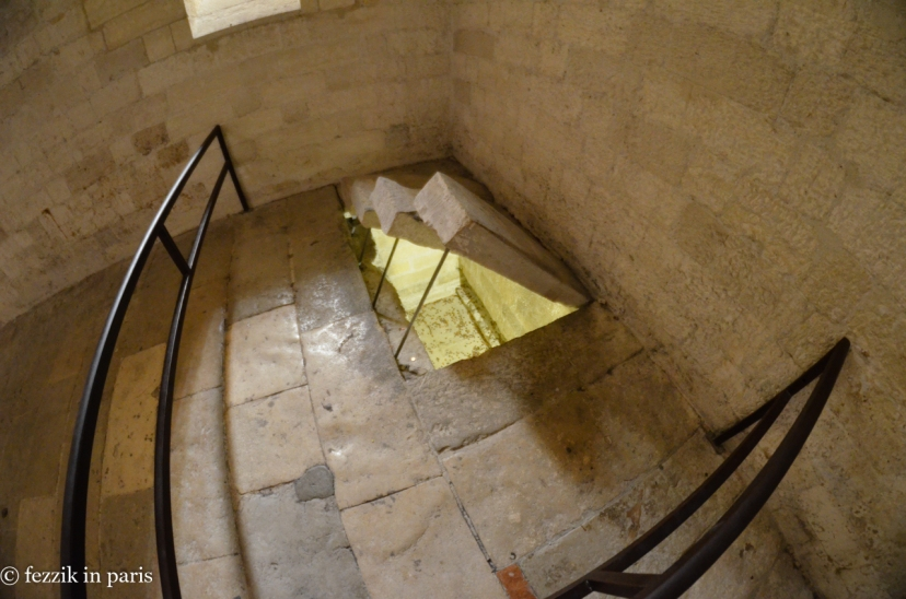 One of the sub-floor vaults in which the church's loot was stored.
