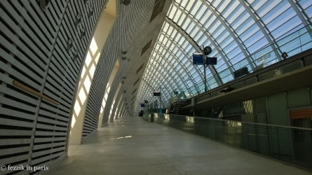Avignon's station is both aesthetically pleasing and surprisingly modern.