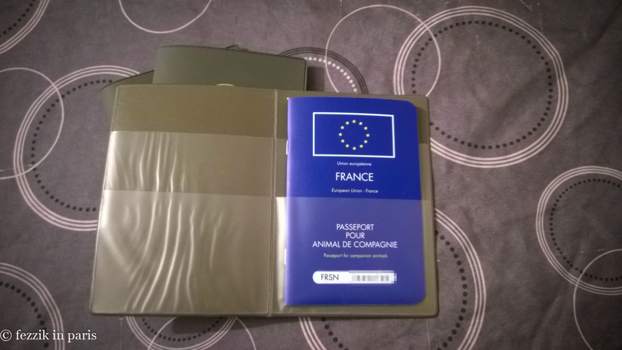 Fezzik's EU Pet Passport.