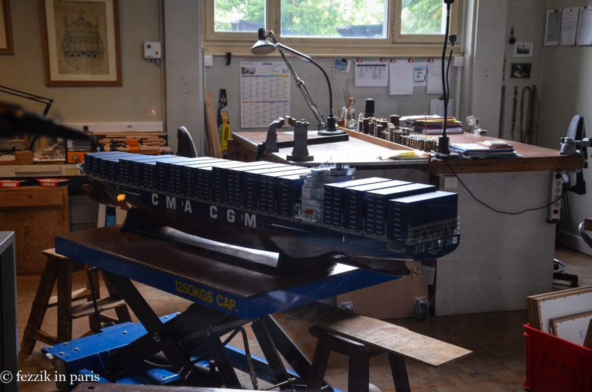 A container ship model that was under construction (from our August 2014 visit)