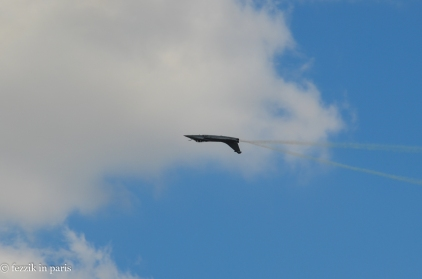 The Rafale was maneuverable. And, on afterburners, quite loud.