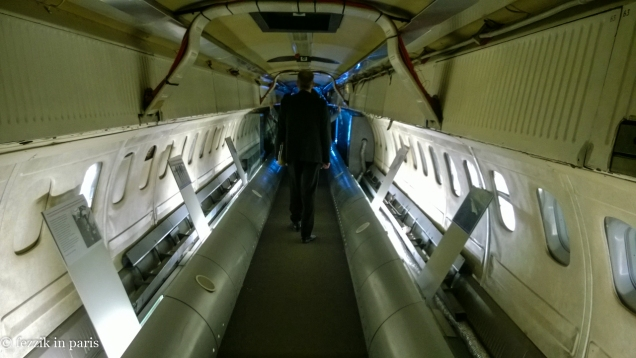 The inside of the preproduction Concorde.