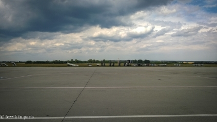 The view from the tarmac. Welcome to Hungary.