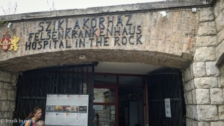 The entrance to the Hospital in the Rock (no pictures allowed inside).