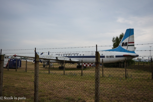 The small museum (boneyard) outside of the airport.