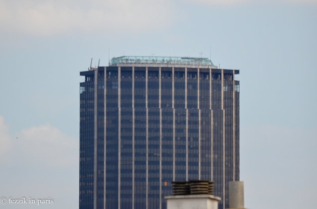 Tour Montparnasse, as seen from our balcony.