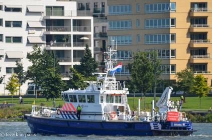 A police vessel.