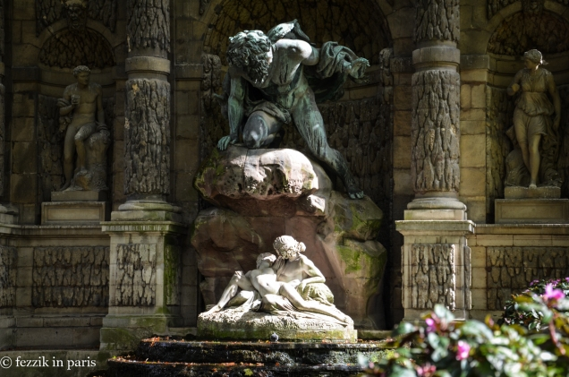 Detail of the fontaine.