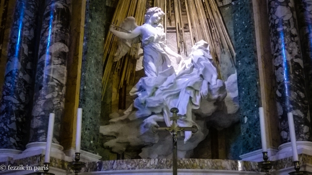 Saint-Teresa in Ecstasy, a Bernini work that we hiked halfway across the city to see. (It was worth it)