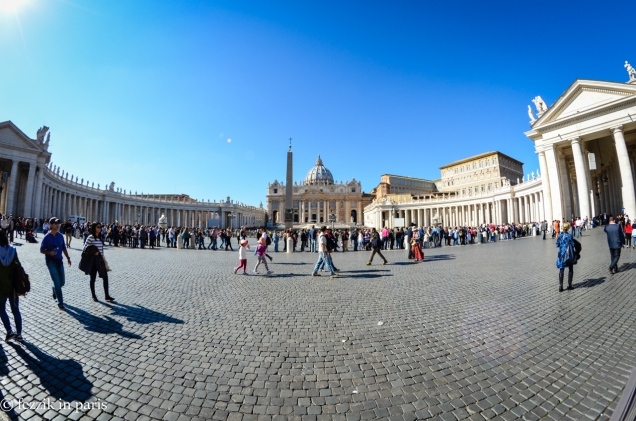 "Saint-Peter's square. Not pictured: 759 ""tour guides"" offering skip the line tickets."