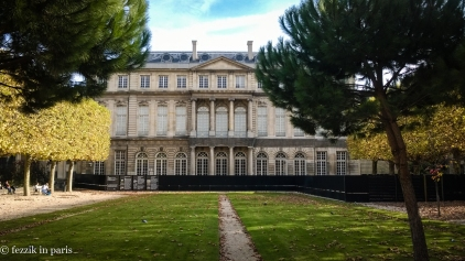 The courtyard of the nearby Archives nationales.