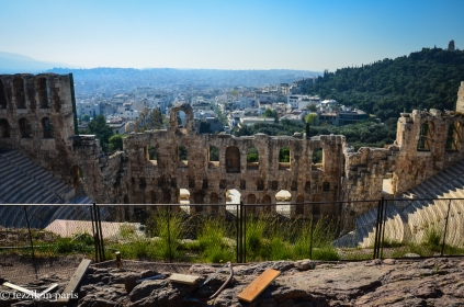 The Odeon of Herodes Atticus, as seen on our way up the Acropolis.