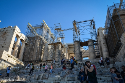 The Propylaea (Acropolis gate).