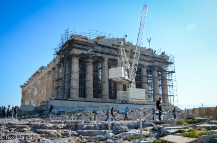 The Parthenon. Bonus inclusion: a crane (I had to convince the Purrito that I wasn't intentionally taking a picture of said crane).