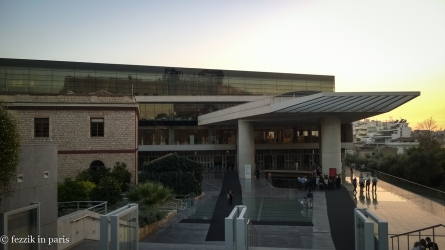 The exceptionally interesting (and aesthetically pleasing) Acropolis Museum.