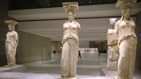 The ladies of the Erechtheion were casts; four of these are real (the British Museum stole one and the Louvre has one).