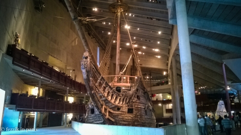 The front of the ship. It's a big damn boat.