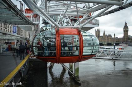 Aboard the London Eye.