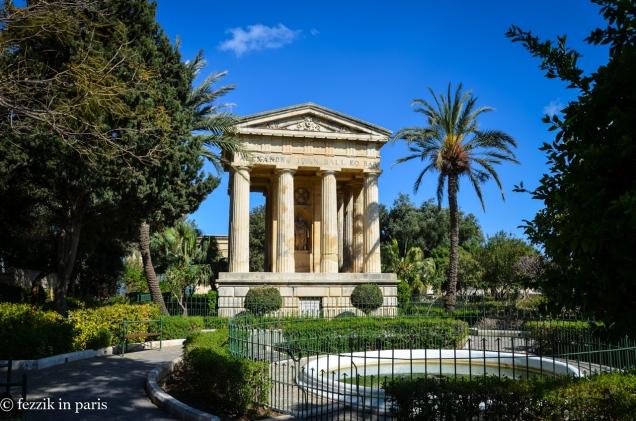 "Lower Barrakka garden. (The ""temple"" is a folly)"