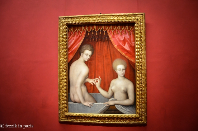 I didn't realize the painting in the Louvre (the infamous nipple pinch) was one of a series.