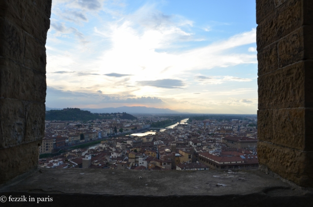 Florence as seen from the top of Palazzo Vecchio's tower.