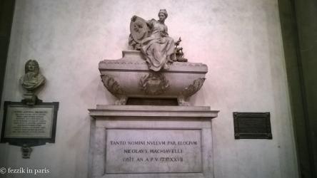Macchiavelli's tomb.