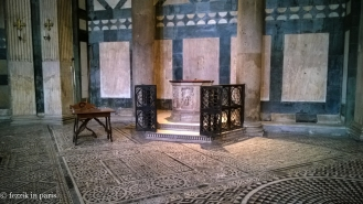 Inside the baptistery (the hexagonal building in front of Il Duomo).