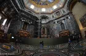 The Medici Chapel, and proof that I still have the fisheye lens.
