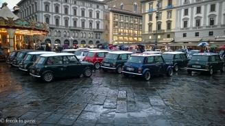 A gathering of minis on the piazza.