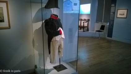 The hat in this photo is one of only four (of 150) that accompanied Napoléon to Sainte-Hélène.