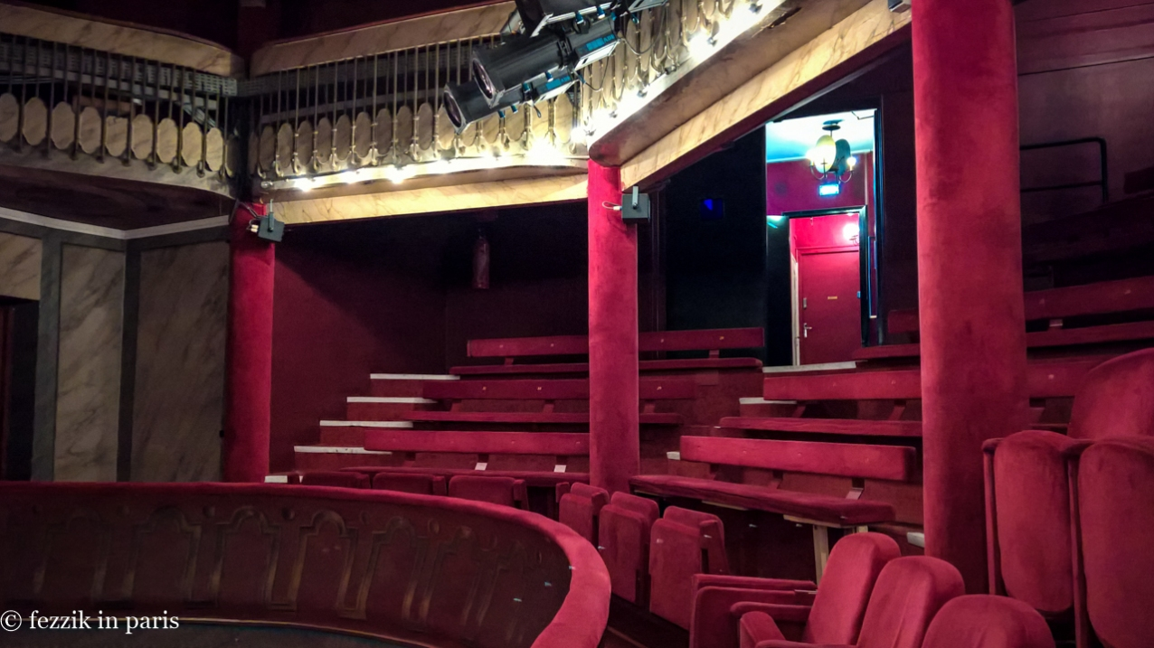 We had the upper balcony more or less to ourselves, as this is the only place from which one can see the English surtitles.