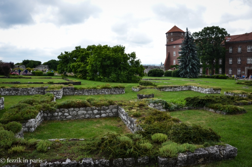 Ruins of part of Wawel Castle.