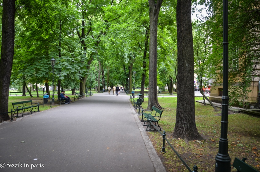 The city-encircling park, built where the city walls once stood.
