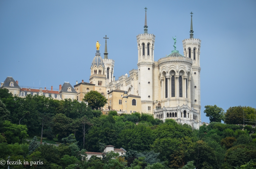 La basilique notre-dame de Fourvière, otherwise known as that bigass church on the hill that overlooks the city.