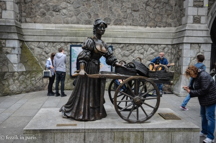 The recently-moved statue of Molly Malone.
