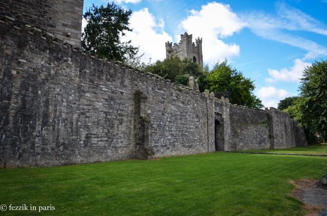 Dublin's old city walls.