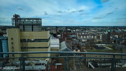 The view from the bar at the top of the Guinness Storehouse.