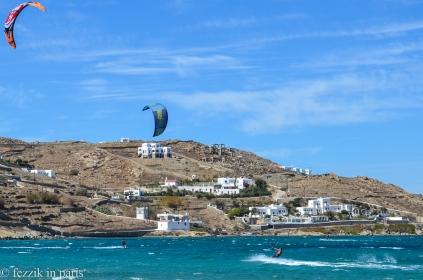 Kite surfers.