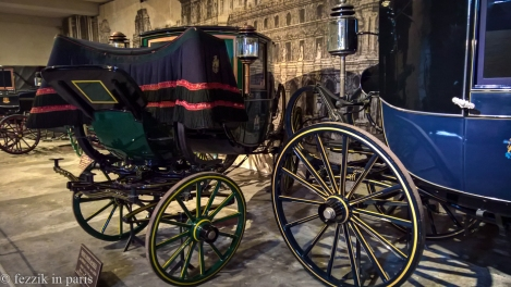 Non-period carriages from the carriage house.