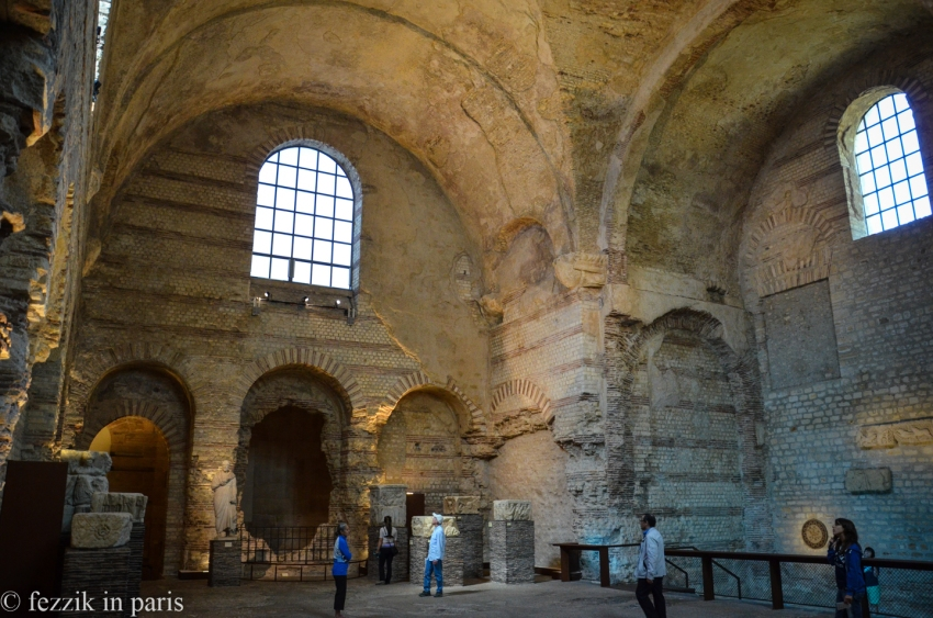 The 13th century hôtel particuliere was built over whatever was left of a Roman bath house. There's an exhibit in the baths at the moment, so this picture is actually from when we visited in 2014.